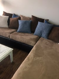 Sectional couch-with pillows