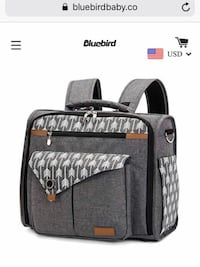 Lekebaby convertible diaper bag/backpack