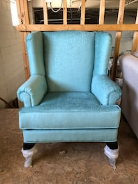 TURQUOISE-BRAND NEW CANADIAN MADE WING CHAIR Toronto