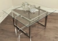 Brand new square chrome coffee table--delivery included! Toronto