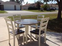 Freshly redone drop leaf table and 4 chairs