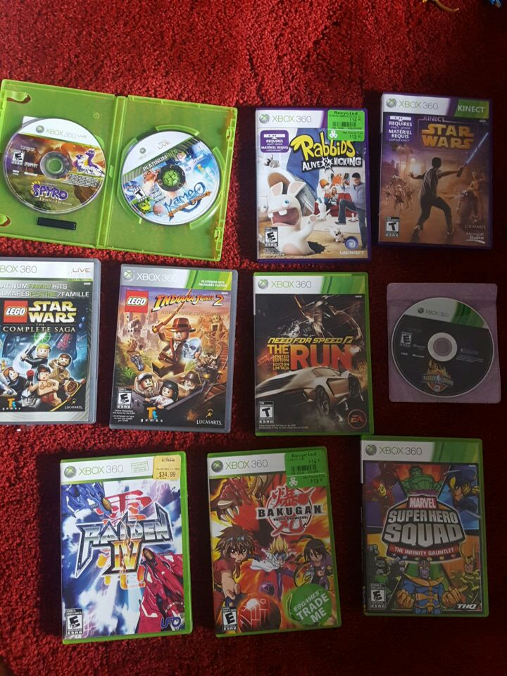 Xbox 360 games $40 for all obo