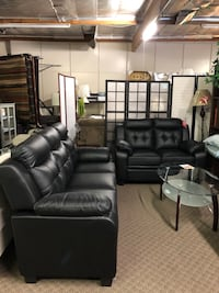 Short Sale!! Brand New 2pc Black Leather Sofa And Loveseat $699, No credit check finance available North Highlands, 95660