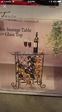Wine storage table with glass top  Kings Park, 11754