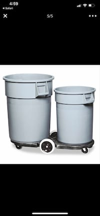 Rubbermaid dual dumpster dolly