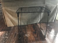 square black metal wire side table base