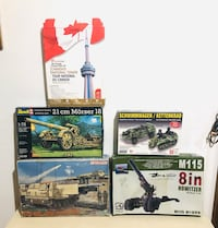 Vintage Model Kits unassembled with boxes