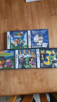 5 Nintendo DS video games  Mississauga, L4W 4R8