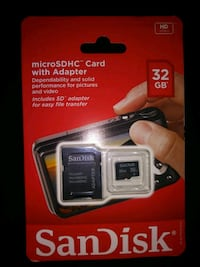 SanDisk Ultra Plus SD card with adapter Evans, 80620