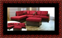 Red sectional with ottoman Lanham, 20706
