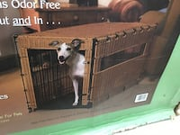 Midwest Rattan Covered Dog Crate New In The Box