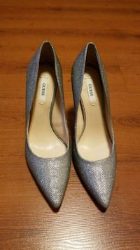 Size 6 Guess pumps - silver color.  Whitby