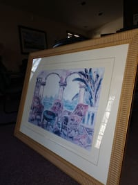 "Picture framed and glass 44.5"" wide 34.5"" tall Amelia, 45102"