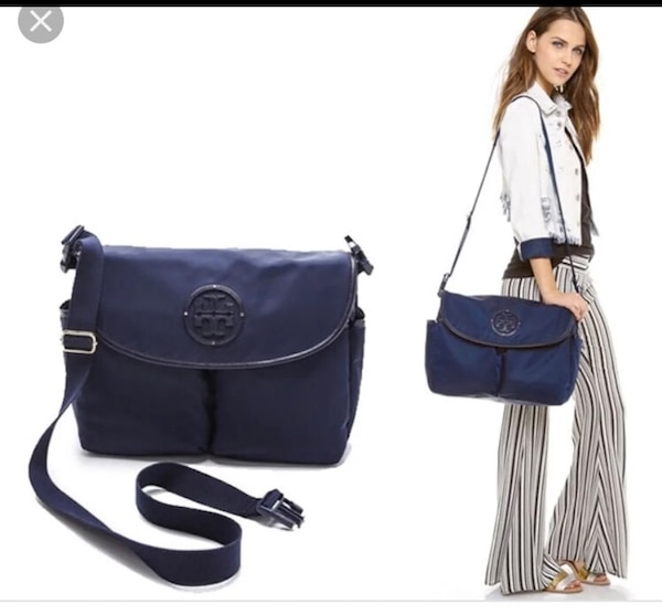 bab6348bdf36 Used Tory Burch bag can use it for baby bag or school for sale in ...