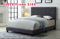 Brand new queen grey fabric button tufted bed frame on sale 多伦多, M1S 0L2