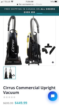 Gently Used Cirrus Commercial Vacuum