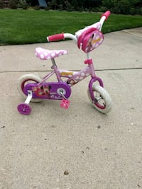 toddler's pink and purple bicycle with training wheels Northville, 48167