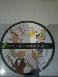 set of 4 cocktail plates