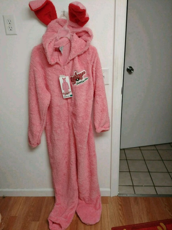 Christmas Story Bunny Pajamas.Used Christmas Story Ralphie Pink Bunny Suit For Sale In