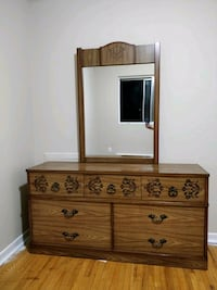 brown wooden dresser with mirror London, N5W 3H1