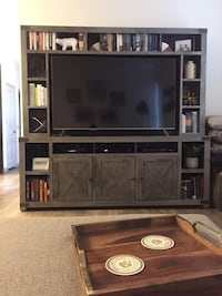 """84"""" Urban Farmhouse Entertainment Center holds up to 65"""" TV Westminster"""