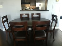 Wooden dining table with 6 chairs  Toronto, M1P 0A1