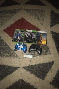 Xbox games and controllers plus a wi-Fi adapter Gaithersburg, 20877