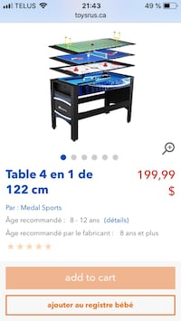 Black wooden framed blue and white wooden table screenshot Saint-Joseph-de-Beauce, G0S