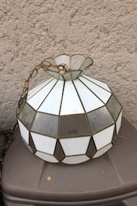 Stained class hanging lamp