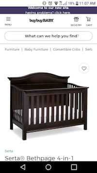 baby's brown wooden crib screenshot Wesley Chapel, 33543