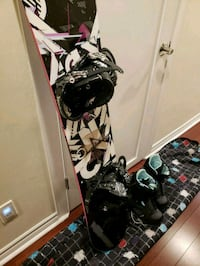 K2 Women's snowboard, bindings, bag, boots