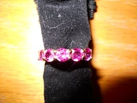 Gold plated Pink Sapphire Ring, Size 5 Albuquerque