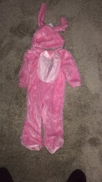 Pink bunny costume for infant