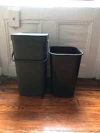 Trash bins (Brabantia and Rubbermaid) New York, 10010