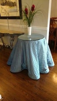 Display table with cloth and thick glass Toronto, M5N 1Z6