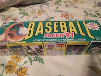 Baseball Fleer' 91 trading card box