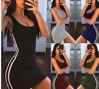 Black tight fitted sundress sexy Toronto, M6M 2W7