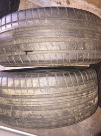 Two vehicle tires p225/45/zr17