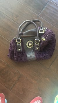 purple and black leather shoulder bag San Antonio, 78230