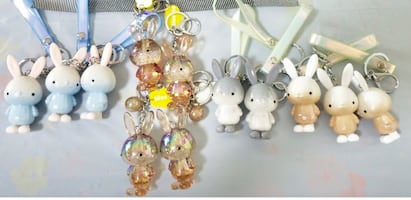 Keychains pig and bunny