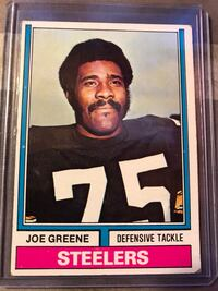 1974 Topps # 40 Joe Greene  HOF  Pittsburgh Steelers   Fresno, 93727