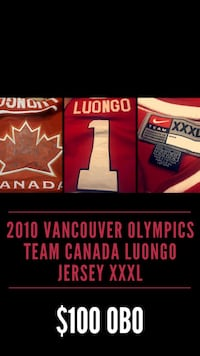 Authentic 2010 Never Worn Luongo Team Canada Jersey XXXL