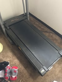 Black and grey treadmill