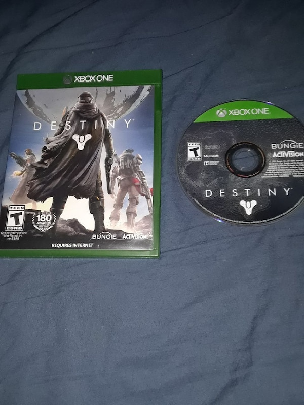 destiny Xbox One game disc with case