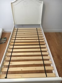 white and brown wooden bed frame Fort Lauderdale, 33304