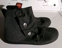 black and gray leather boots Westminster