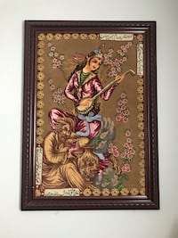 Hand knited persian rug (Tabriz)with wooden frame Richmond Hill, L4E 3V2