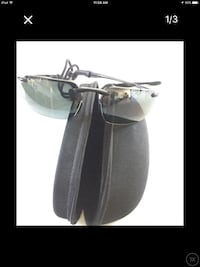 black framed sunglasses with clamshell case screenshot North Kingstown, 02874