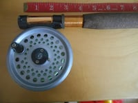 Travel telescopic Fly Fishingrod and reel, ready to fish MONTREAL
