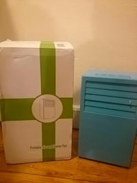 blue portable air conditioner fan with white box Fall River, 02723